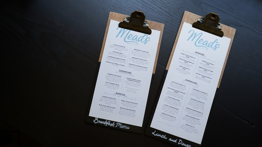 Two restaurant menus