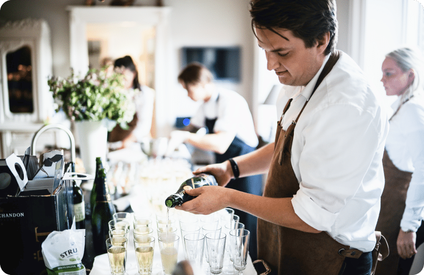 hospitality event worker