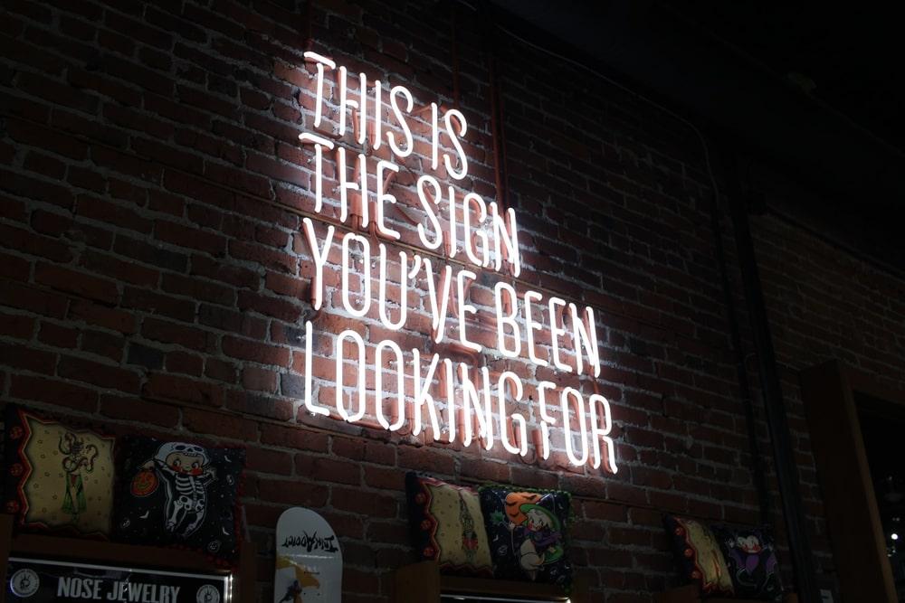 Neon brand sign