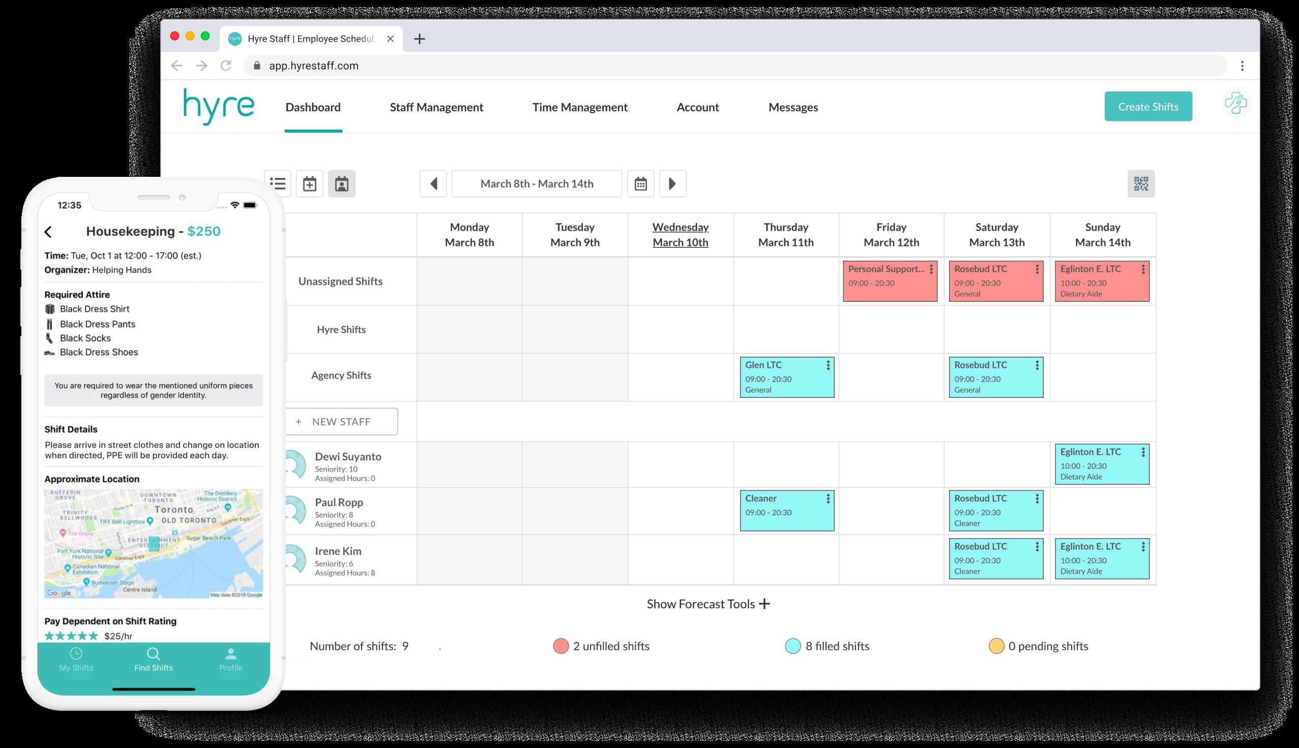 Hyre Scheduling Workforce Management