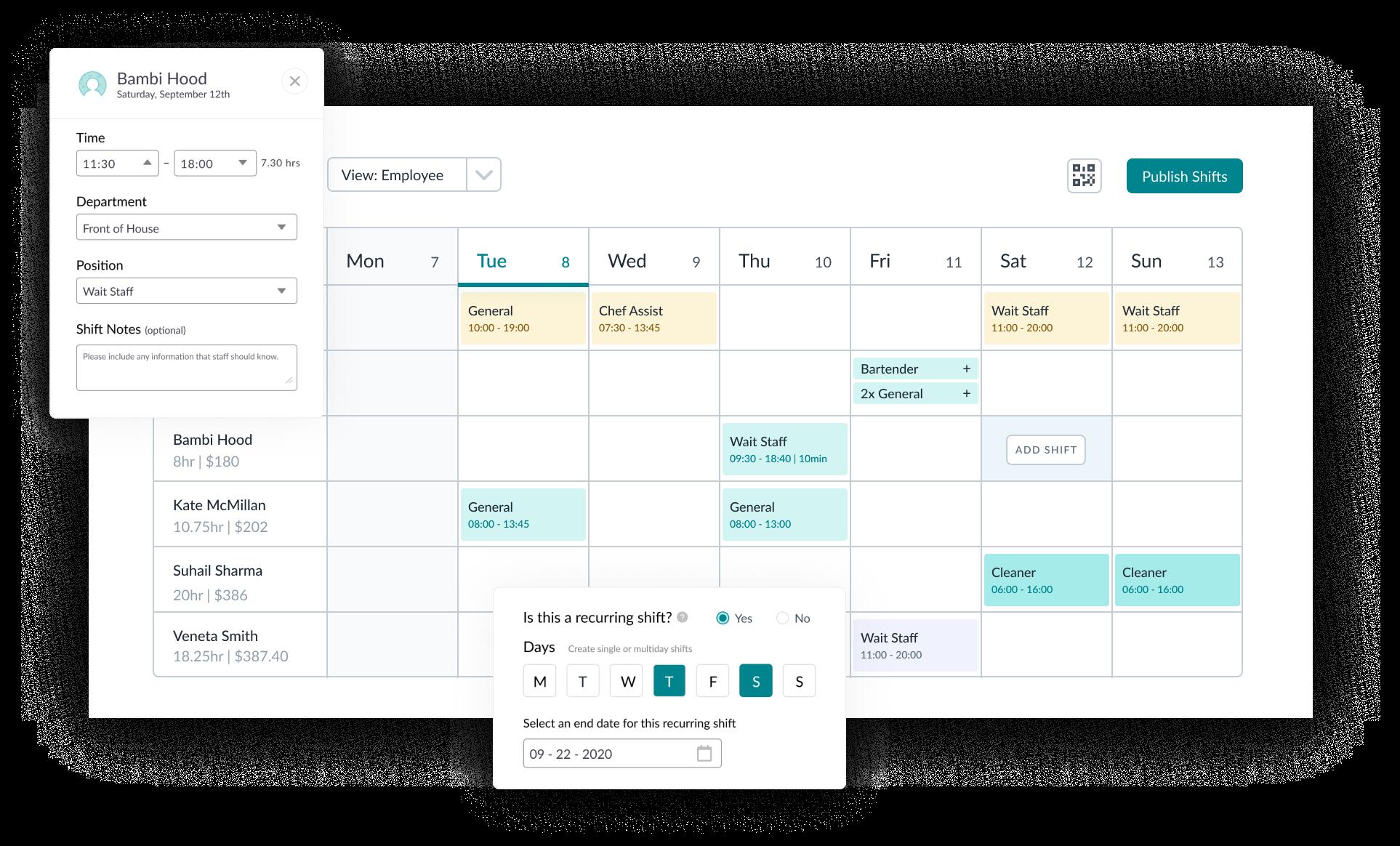 employee shift scheduling