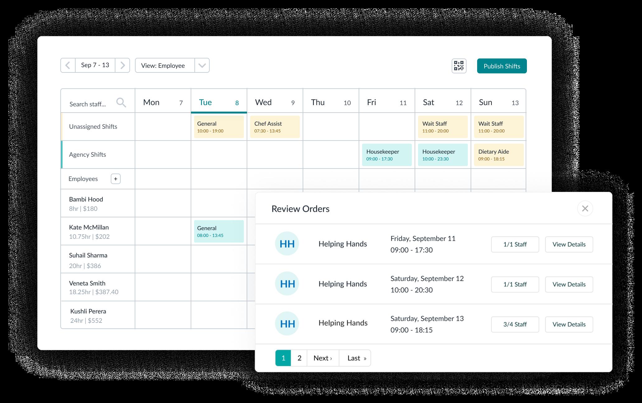 scheduling and vendor management